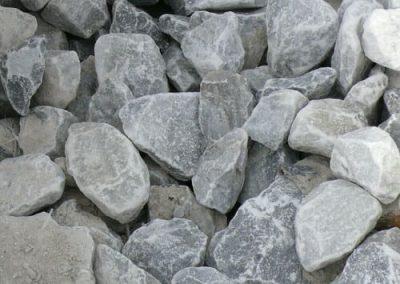 Steinbeet Marmorsplitt Taubenblau 40/70 mm Eckert Natursteine