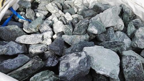 Gabionenschotter Marmorschotter grün 70/120 mm Eckert Natursteine