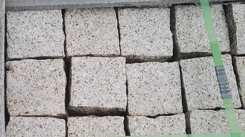 Pflaster Pflastersteine Kleinpflaster Granit gelb gesägt Natursteine Eckert Frankenhardt Gartengestalltung Schwäbisch Hall Crailsheim Gaildorf Ellwangen