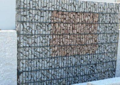 Sichtschutz Gabionen auf Maß Gabionenschotter Granitschotter Natursteine Eckert Frankenhardt Gartengestalltung Schwäbisch Hall Crailsheim Gaildorf Ellwangen