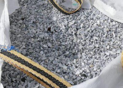Steinbeet Marmorsplitt Taubenblau 8/16 mm Eckert Natursteine