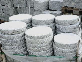 Bodenbeläge Trittplatten Schrittplatten Rasentrittplatten Gartenplatten Granit rund