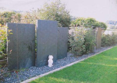 Sichtschutz Schiefertafel Platte Stelen Stele Natursteine Eckert Frankenhardt Gartengestalltung Schwäbisch Hall Crailsheim Gaildorf Ellwangen