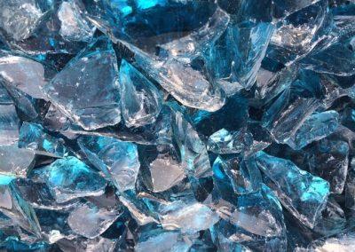 Steinbeet Glasschotter Sky blue 40/80 mm Eckert Natursteine