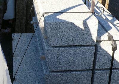 Sonderanfertigungen Granit Blockstufen Polen Eckert Natursteine